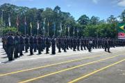 Solenidade de conclusão descentralizada do Curso de Formação de Soldados, 04 de dezembro de 2020.